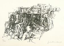 GERHARD KETTNER - Im Studiensaal - Lithografie 1972/1973