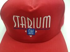 STADIUM GM Chevrolet Buick GMC Cadillac HAT CAP SALEM OHIO RED SNAPBACK CINTAS