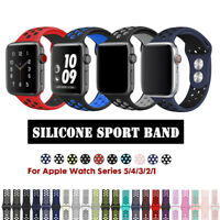 for Apple Watch Series SE 6 5 4 3 38 40 42 44 mm Silicone Sport Band Loop Strap