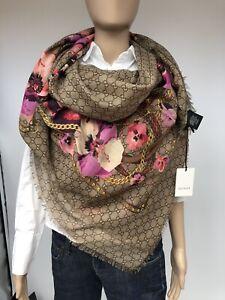 Gucci Schal/Tuch Neu Wolle 140x140 cm Originalverpackung Neu Modell-508797