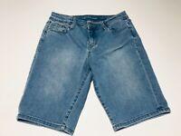 """Calvin Klein Stretch Light Blue Denim Jeans Shorts Waist 26"""", Inseam 10.5"""" (44)"""