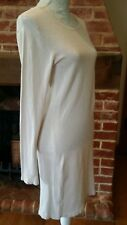 Mango Snug fit Cream Ivory Knitted Jumper Dress Size M 10 12 Knitwear thin