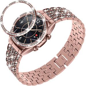 Samsung Galaxy Watch 3 41mm Band Bling Women Dressy Full Sparkling Crystal Strap