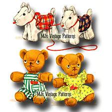 Vintage 1940s Scotty Dog & Teddy Bear Pattern