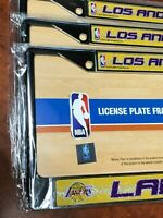 1 Los Angeles Lakers Glitter - Bling Chrome Metal License Plate Frame LA