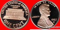 1997 S Lincoln Cent Deep Cameo Gem Proof