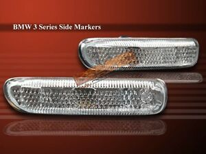 99 00 01 BMW 3 Series Side Markers/Fender Lights Clear 1999 2000 2001