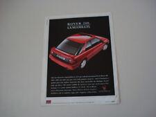 advertising Pubblicità 1991 ROVER 216 GTI