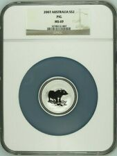 2007 Australia $2 Year of the Pig 2 oz Silver Lunar Coin NGC MS69