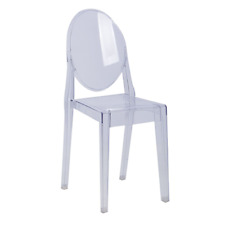 Cafe Ghost Chair Frankel Replica Clear Stacking Visitor Chairs 4 Leg Cafe Seats