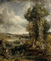 John Constable The Vale Of Dedham Giclee Canvas Print Paintings Poster