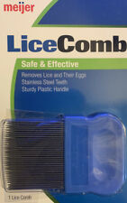 Head Lice Comb Stainless Steel Teeth Removes Lice and Eggs from Hair ~plain env