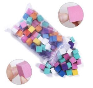 60 Set Mini Acrylic Nail Buffer File Colorful Sanding Sponge Pedicure/Manicure
