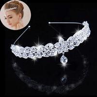 Stars Headband Bridal Princess Stunning Crystal Hair Tiara Wedding Crown HOT