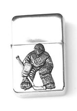 Ice Hockey G Emblem Windproof Petrol Cigarette Lighter FREE ENGRAVING Gift