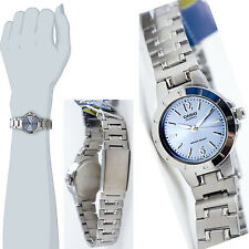 Casio LTP1177A-2AD Ladies Blue Watch Stainless Steel Band Dress Date Display New