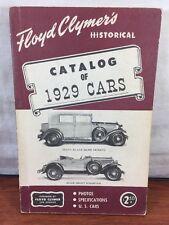 Vintage Floyd Clymer's Antique Automobile Historical Catalog Of 1929 Cars Trucks