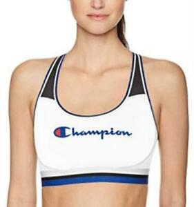 Champion Women's Absolute Mesh Sports Bra, White Size Large