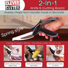 Clever Cutter 2-in-1 Knife & Cutting Board Scissors As Seen On TV Kitchen cxz