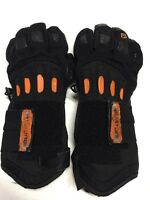 Burton Black/Orange Thinsulate Snowboard/Ski Padded Gloves, Size Small