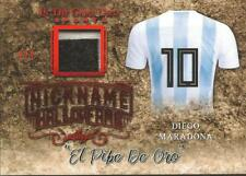 Diego Maradona 2019 Leaf In the Game Patch Jersey Nickname 2/3 Red Foil