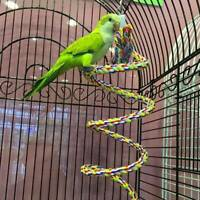 Bird Parrot Bite Chew Toy Large Cotton Triangle Perch Cage Swing Rope Climbing