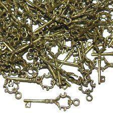 MXL930L2 Key Charm Antiqued Bronze 35mm Zinc Alloy Metal Pendant Drop 50/pkg