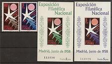 Edifil 1220/1223** Mnh  Exposición Bruselas 2 series completas 1958  NL810
