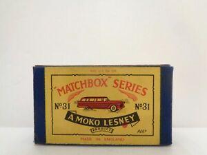 box-1957 MOKO Lesney MATCHBOX No.31 'FORD STATION WAGON'---see photos & more bxs