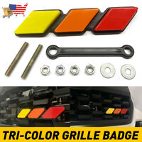 New Tri-color 3 Grille Badge EMBLEM Fit for Toyota Tacoma 4Runner Tundra US