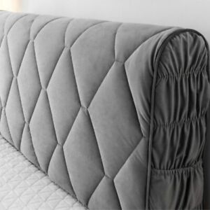 All-inclusive Headboard Cover Velvet Fabric Solid Thicken Bed Head Cover SoftBed
