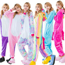 Unisex Adult Pajamas Unicorn Kigurumi Cosplay Costume Animal Sleepwear ones-ie