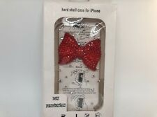 FOR IPHONE 5 CASE LUXURY BLING CRYSTAL DIAMOND 3D COVER - red bow