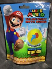 Official Nintendo Super Mario Color Twist Bath Bomb Mama Mia Mango Scent