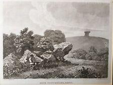 1810 Antique Print; Kit's Coty House, near Aylesford, Kent