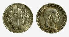 pcc2128_94)  Franz Joseph I 1 Korona 1915 AG Toned