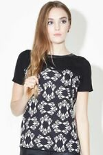 Polyester Geometric Classic Neckline Tops for Women