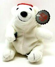 """Coca Cola Polar Bear Bean Bag Coke Bottle Vintage Plush 5"""" Lovey Toy (G16)"""