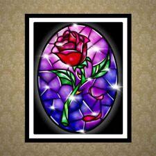 Rose DIY 5D Diamond Painting Embroidery Cross Stitch Kit Craft Home Decor