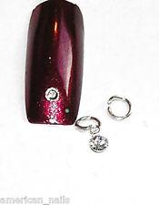 Piercing bijoux d'Ongle Strass SWAROVSKI Cristal Argenté 3 mm Nail Art