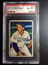 1952 Bowman #140 Ray Scarborough Boston Red Sox PSA 8