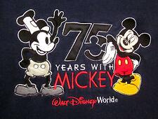 WALT DISNEY WORLD med crewneck sweatshirt 75 Anniversary Mickey Mouse Steamboat