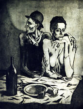 Pablo Picasso modest lunch canvas print giclee 8X12 reproduction painting poster