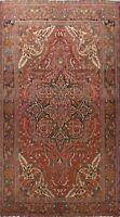 Vintage Geometric Traditional Area Rug Hand-Knotted Oriental Wool Carpet 8x11