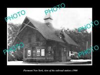 OLD LARGE HISTORIC PHOTO OF PIERMONT NEW YORK, THE RAILROAD DEPOT STATION c1900
