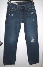 Abercrombie & Fitch Mens Size 28 Slim Straight Button Fly Distressed Jeans