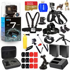GoPro HERO7 HERO 7 Black All In 1 MEGA ACCESSORY KIT W/ 32GB Sandisk + MUCH MORE