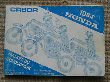 1984 84 Honda CR80R CR 80 80R OWNER OWNERS MANUAL