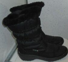 WOMENS GIRLS PAVERS WINTER BOOTS UK 3 EU 36 MID BLACK PADDED FAUX FUR LINED ZIPS