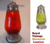 Vintage Moroccan Garden Lantern Candle Holder Indoor Outdoor UK FREE P&P